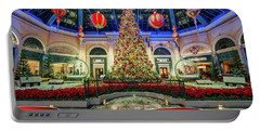 The Bellagio Conservatory Christmas Tree Card 5 By 7 Portable Battery Charger