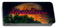 The Big Ball Atlanta Braves Baseball Signage Art Portable Battery Charger