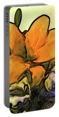 The Big Gold Flower And The White Roses Portable Battery Charger