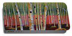 The Birch Forest - Landscape Painting Portable Battery Charger