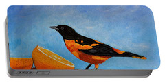 The Bird And Orange Portable Battery Charger by Laura Forde