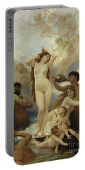 The Birth Of Venus Portable Battery Charger by William-Adolphe Bouguereau