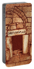 The Birthplace Of Christ Church Of The Nativity Portable Battery Charger by Georgeta Blanaru