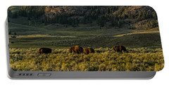 The Bison Rut In Yellowstone Portable Battery Charger
