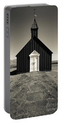 Portable Battery Charger featuring the photograph The Black Church by Edward Fielding
