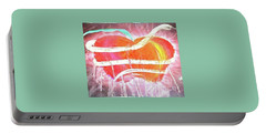 The Bleeding Heart Of The Illuminated Forbidden Fruit Portable Battery Charger by Talisa Hartley