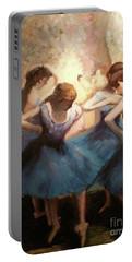 The Blue Ballerinas - A Edgar Degas Artwork Adaptation Portable Battery Charger