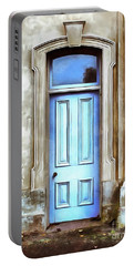 Portable Battery Charger featuring the painting The Blue Door by Edward Fielding