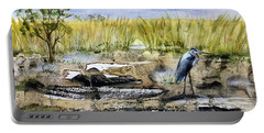 The Blue Egret Portable Battery Charger