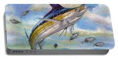 The Blue Marlin Leaping To Eat Portable Battery Charger