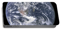 Portable Battery Charger featuring the photograph The Blue Planet - The Blue Marble  By Apollo 17 by Celestial Images