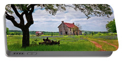Portable Battery Charger featuring the photograph The Bluebonnet House by Linda Unger