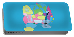 Portable Battery Charger featuring the digital art The Blues by Eleni Mac Synodinos
