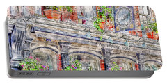 Portable Battery Charger featuring the digital art The Bonny Boat An Historic English Pub by Anthony Murphy