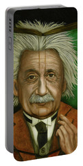 The Book Of Knowledge  Portable Battery Charger by Leah Saulnier The Painting Maniac
