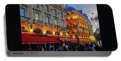 The Boulevard Saint Michel At Dusk In Paris, France Portable Battery Charger by Richard Rosenshein