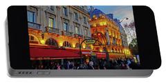 The Boulevard Saint Michel At Dusk In Paris, France Portable Battery Charger