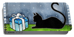 The Box Is Mine - Christmas Cat Portable Battery Charger