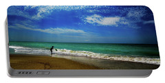 Portable Battery Charger featuring the photograph The Boy At The Beach  by John Harding