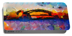 The Bridge I Will Cross Portable Battery Charger by Sir Josef - Social Critic - ART