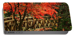The Bridge In The Park Portable Battery Charger by Connie Handscomb