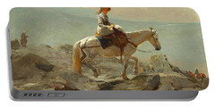 Portable Battery Charger featuring the painting The Bridle Path, White Mountains - 1868 by Winslow Homer