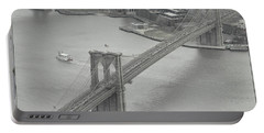 The Brooklyn Bridge From Above Portable Battery Charger