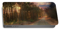 Portable Battery Charger featuring the photograph The Brown Path Before Me by Lori Deiter