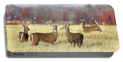 Portable Battery Charger featuring the photograph The Bucks Stop Here White-tail Deer  by Jennie Marie Schell