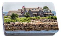 The Bush Compound Kennebunkport Maine Portable Battery Charger by Brian MacLean