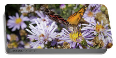 The Butterfly And Flowers Portable Battery Charger