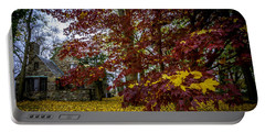 The Cabin In Autumn Portable Battery Charger