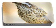The Cactus Wren  Portable Battery Charger by Saija  Lehtonen