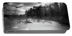 Portable Battery Charger featuring the photograph The Calm Of Winter by David Patterson