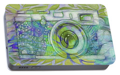 Portable Battery Charger featuring the digital art The Camera - 02c5b by Variance Collections