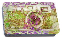 Portable Battery Charger featuring the digital art The Camera - 02c6t by Variance Collections