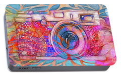 Portable Battery Charger featuring the digital art The Camera - 02v2 by Variance Collections