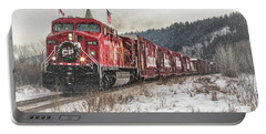 Portable Battery Charger featuring the photograph The Canadian Pacific Holiday Train by Brad Allen Fine Art