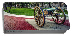 Portable Battery Charger featuring the photograph The Cannon In The Park by Kendall McKernon