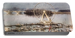 The Capital Wheel At National Harbor Portable Battery Charger