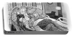 Portable Battery Charger featuring the drawing The Caregiver by Peter Piatt