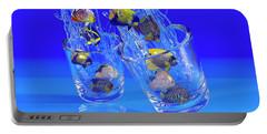Fish Bowl Digital Art Portable Battery Chargers