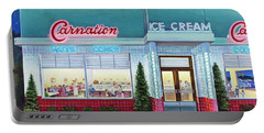 The Carnation Ice Cream Shop Portable Battery Charger