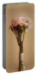 Portable Battery Charger featuring the digital art The Carnations by Ernie Echols