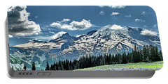 The Cascade Mountains And Mt. Rainier Portable Battery Charger