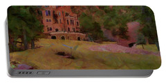 Portable Battery Charger featuring the digital art The Castle by Ernie Echols