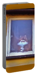 The Cat In The Window Portable Battery Charger