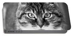 The Cat Stare Down Portable Battery Charger