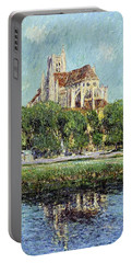 The Cathedral At Auxerre Portable Battery Charger