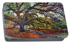 Portable Battery Charger featuring the painting The Century Oak by Hailey E Herrera
